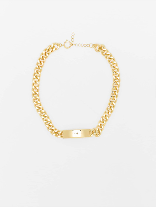 Urban Classics Autres Plate Necklace or