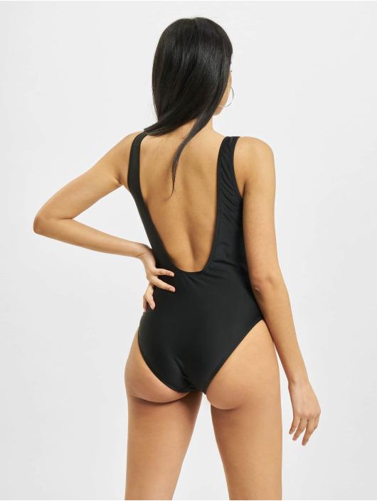 Urban Classics Badeanzug Ladies Recycled High Leg schwarz
