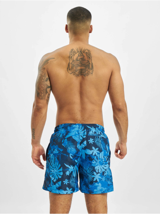 Urban Classics Badeshorts Pattern  Swim Trunks blå