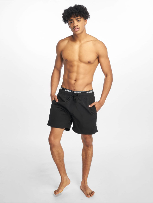 Urban Classics Badeshorts Two In One black