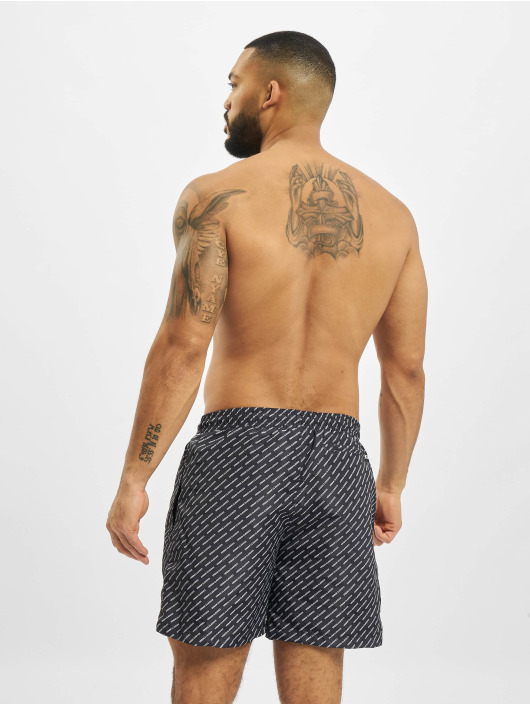 Urban Classics Badeshorts UC All Over Print black