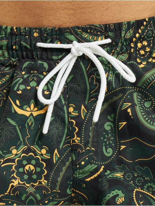 Urban Classics Badeshorts Paisley grøn