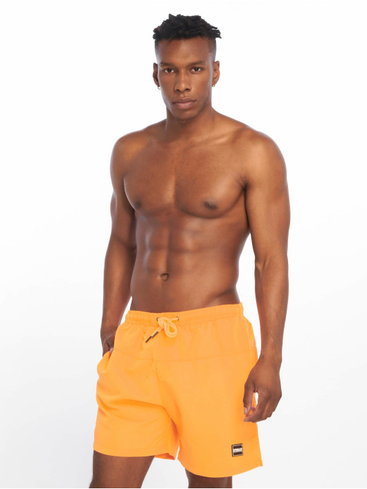Urban Classics Badeshorts Block orange