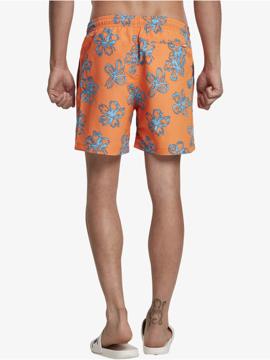 Urban Classics Badeshorts Floral orange
