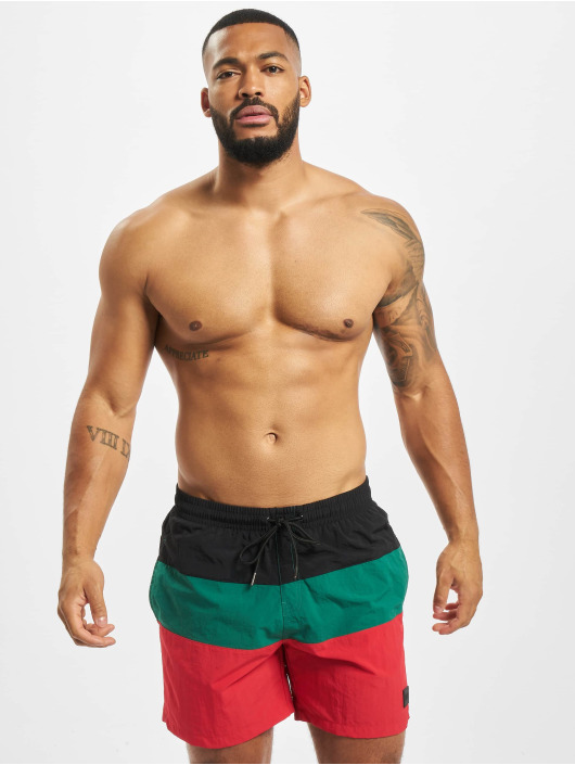 Urban Classics Badeshorts Color Block red