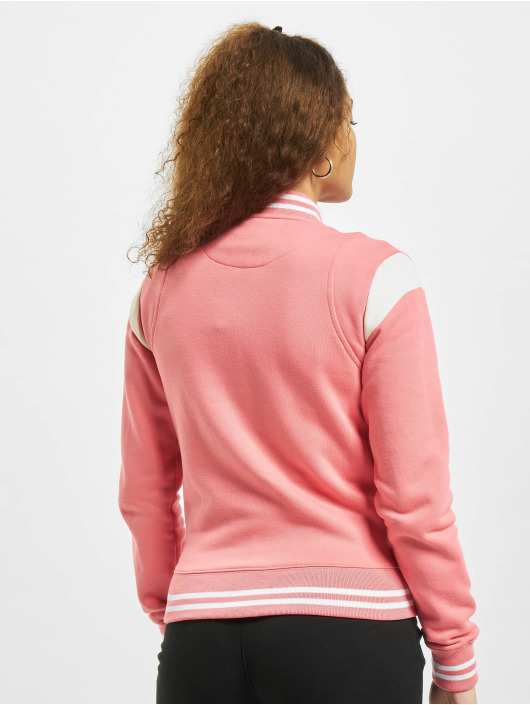 Urban Classics Basebalové bundy Inset College pink