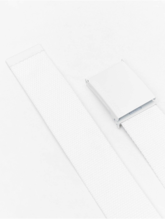 Urban Classics Belt Coloured Buckle Canvas white