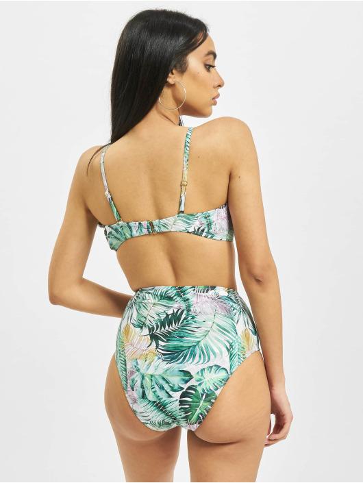 Urban Classics Bikini Ladies High Waist Pattern bianco