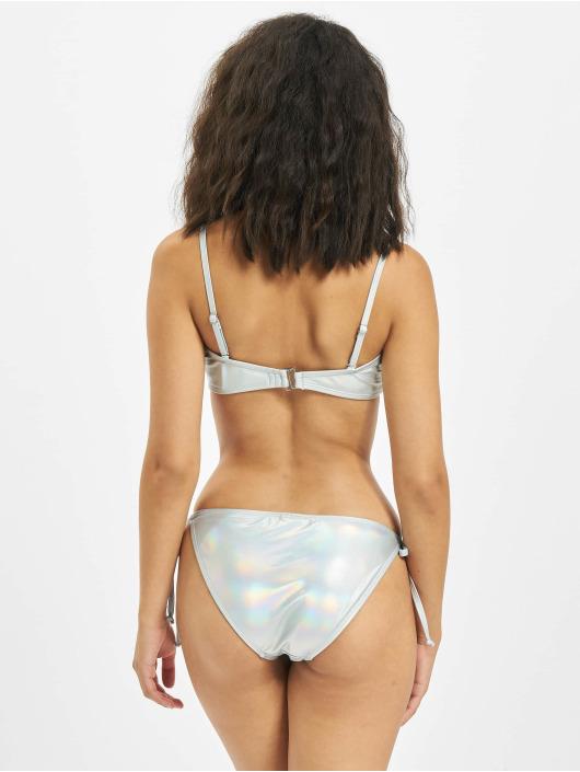 Urban Classics Bikini Shimmering Bandeau sølv
