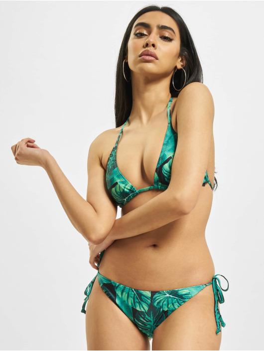 Urban Classics Bikini Ladies Triangle Pattern verde