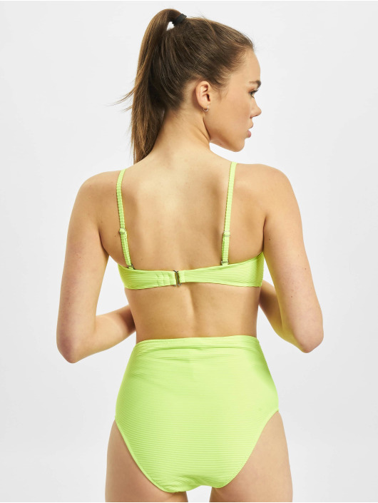 Urban Classics Bikini Ladies High Waist Bandeau yellow