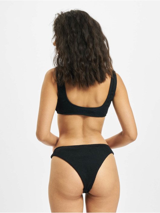 Urban Classics Bikini Tank Top Crinkle zwart