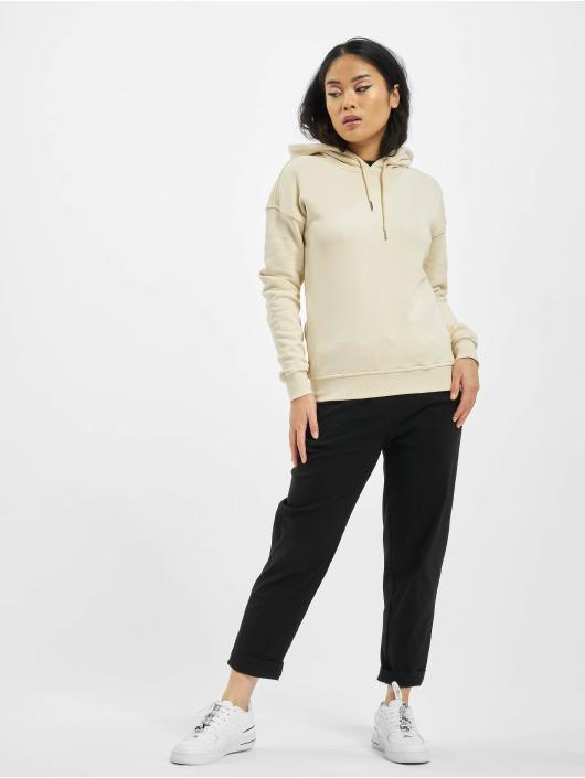 Urban Classics Bluzy z kapturem Ladies Organic bezowy