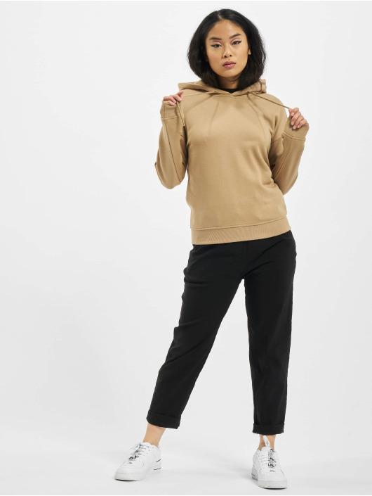 Urban Classics Bluzy z kapturem Ladies bezowy