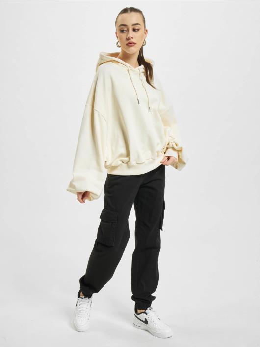 Urban Classics Bluzy z kapturem Ladies Organic Oversized Terry bezowy