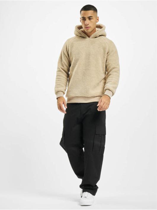 Urban Classics Bluzy z kapturem Sherpa brazowy