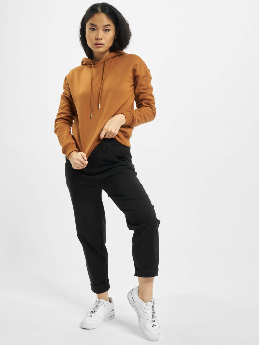 Urban Classics Bluzy z kapturem Ladies brazowy