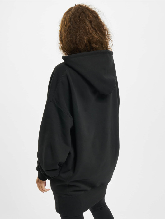 Urban Classics Bluzy z kapturem Long Oversize czarny