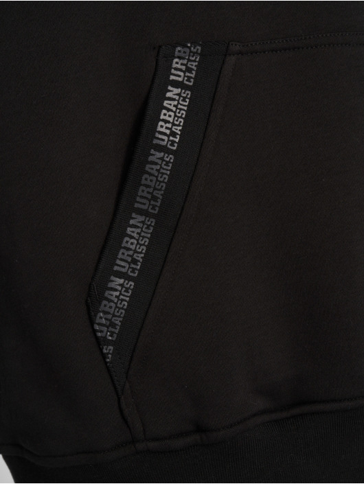 Urban Classics Bluzy z kapturem Oversize Logo czarny