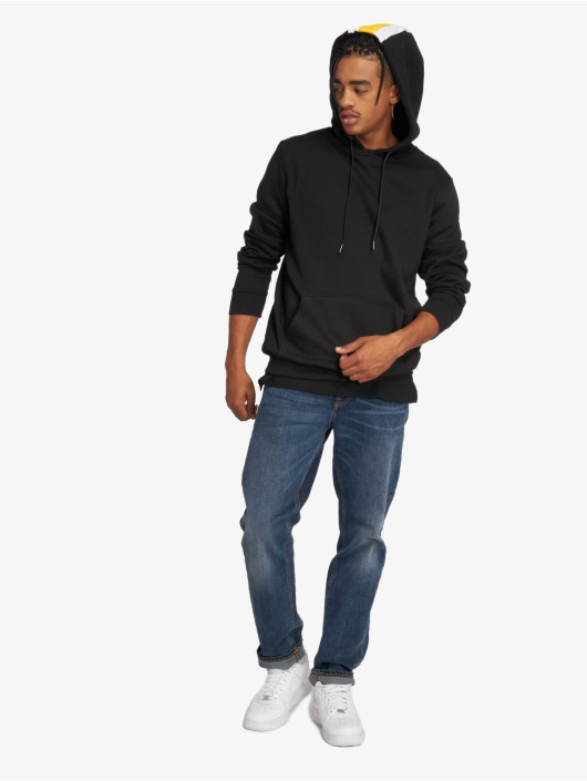 Urban Classics Bluzy z kapturem Back Stripe czarny