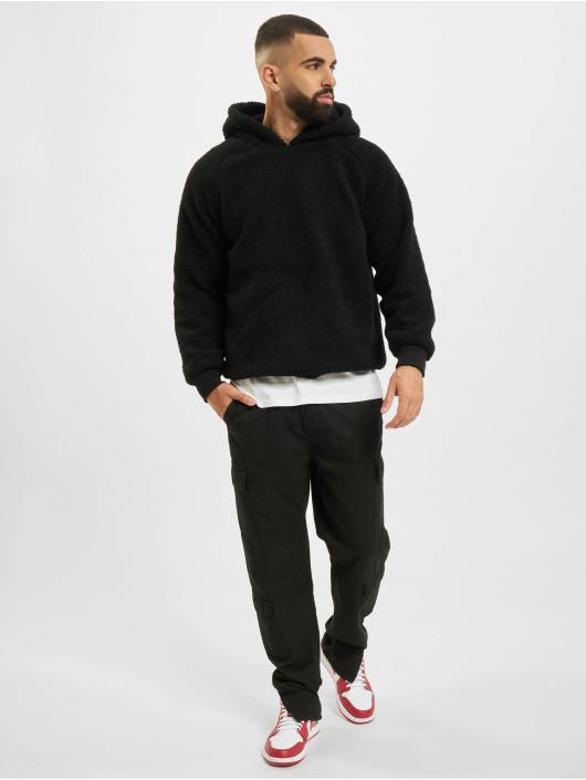 Urban Classics Bluzy z kapturem Sherpa czarny