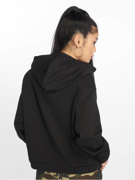 Urban Classics Bluzy z kapturem Ladies czarny