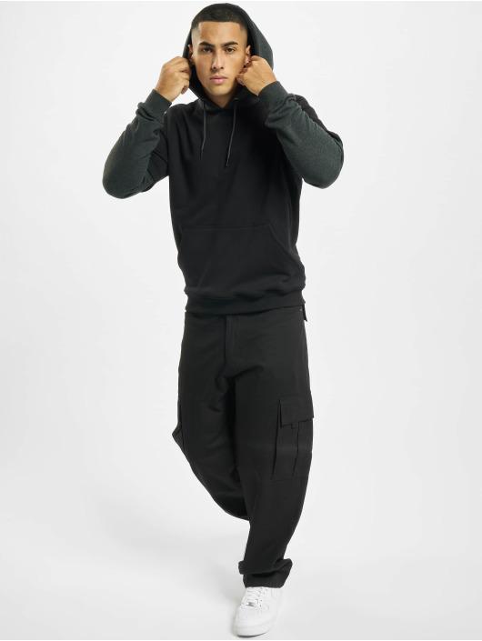 Urban Classics Bluzy z kapturem Double Layer czarny