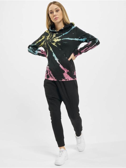 Urban Classics Bluzy z kapturem Tie Dye czarny
