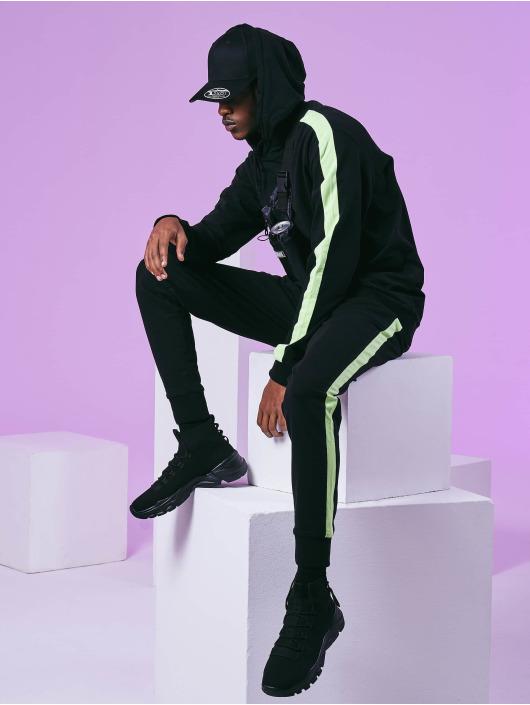Urban Classics Bluzy z kapturem Neon Striped czarny