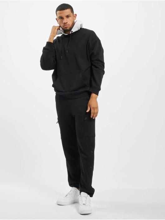 Urban Classics Bluzy z kapturem Oversized Hooded Crew czarny