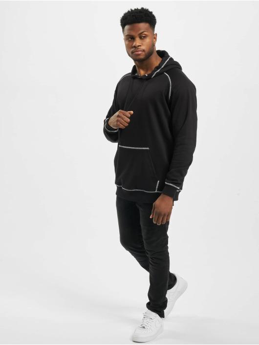 Urban Classics Bluzy z kapturem Contrast Stitching czarny