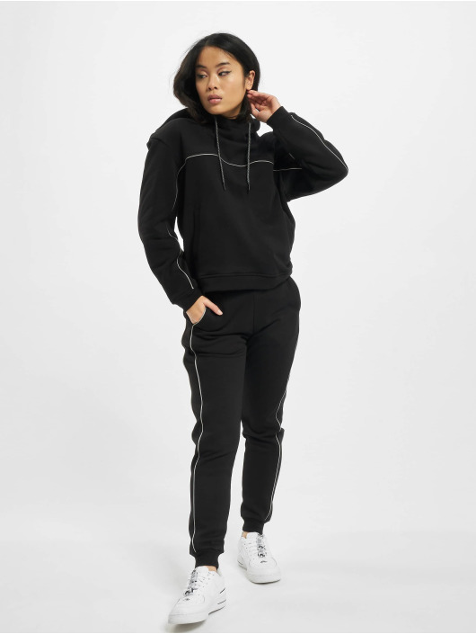 Urban Classics Bluzy z kapturem Reflective Hoody czarny