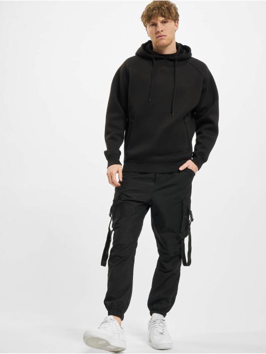Urban Classics Bluzy z kapturem Raglan Zip Pocket czarny