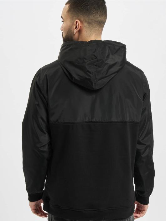 Urban Classics Bluzy z kapturem Military Half Zip czarny