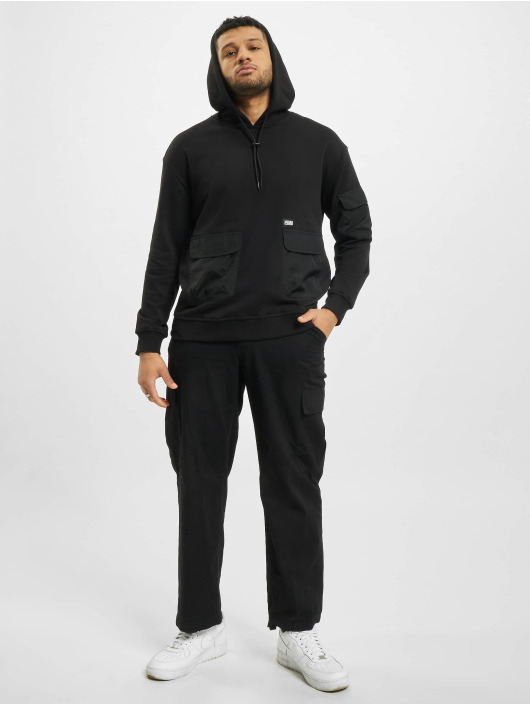 Urban Classics Bluzy z kapturem Commuter czarny