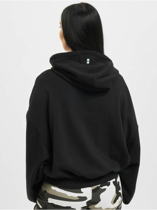 Urban Classics Bluzy z kapturem Ladies Organic Oversized czarny