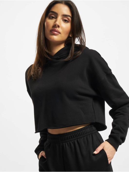 Urban Classics Bluzy z kapturem Ladies Oversized Cropped czarny