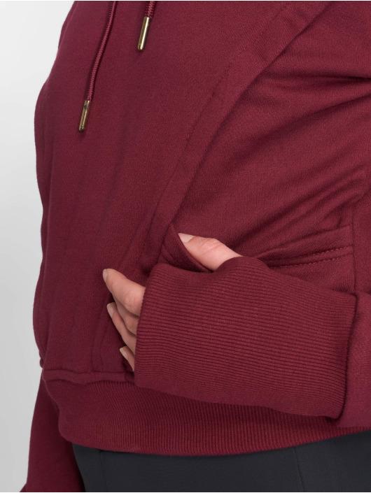 Urban Classics Bluzy z kapturem Thumb Hole czerwony