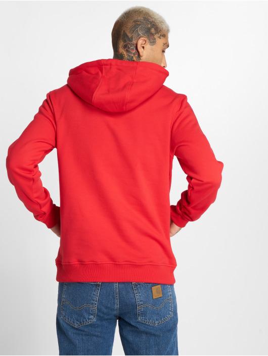 Urban Classics Bluzy z kapturem Basic Sweat czerwony