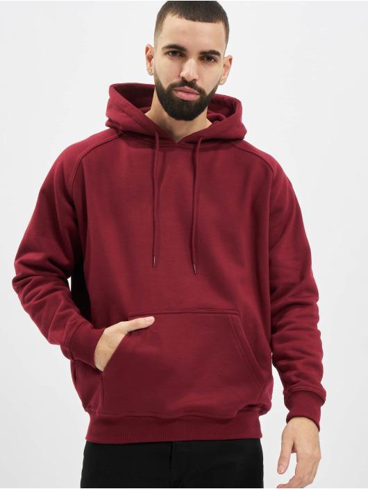 Urban Classics Bluzy z kapturem Blank czerwony