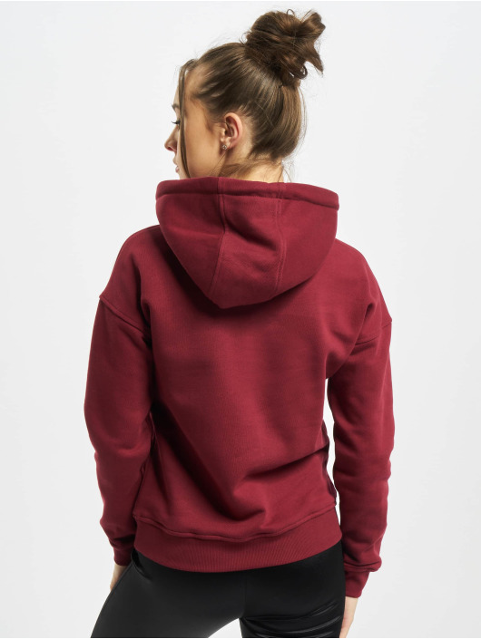 Urban Classics Bluzy z kapturem Ladies Organic czerwony