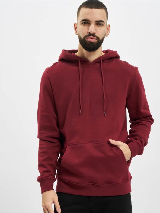 Urban Classics Bluzy z kapturem Organic Basic czerwony