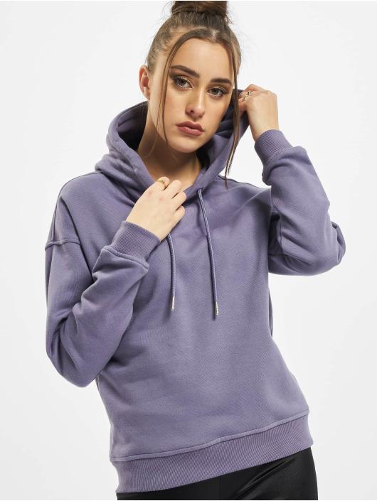 Urban Classics Bluzy z kapturem Ladies fioletowy