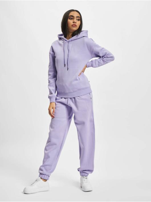 Urban Classics Bluzy z kapturem Ladies Organic fioletowy