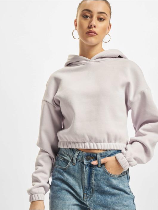 Urban Classics Bluzy z kapturem Ladies Short Oversized fioletowy
