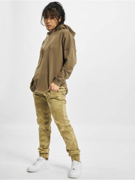 Urban Classics Bluzy z kapturem Oversized Terry khaki
