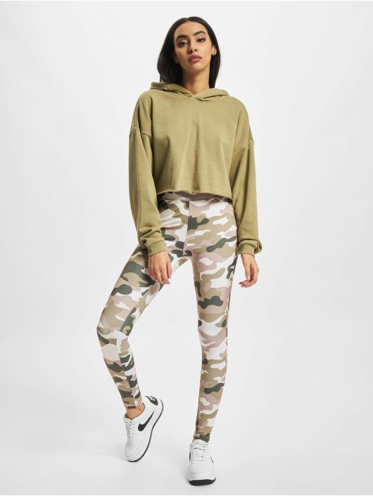 Urban Classics Bluzy z kapturem Ladies Oversized Cropped khaki