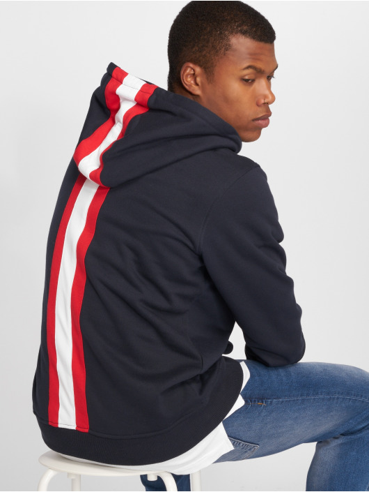 Urban Classics Bluzy z kapturem Back Stripe niebieski
