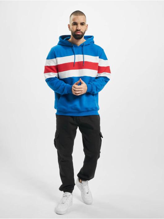 Urban Classics Bluzy z kapturem Chest Striped niebieski