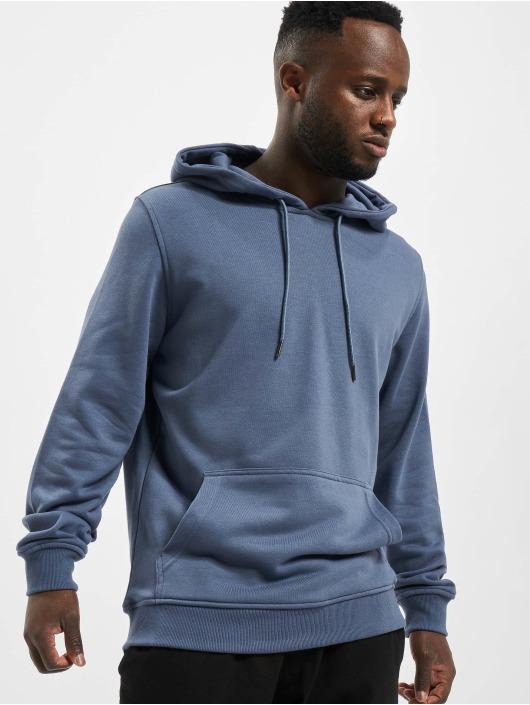 Urban Classics Bluzy z kapturem Basic Terry niebieski